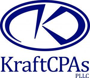 KraftCPAs logo 2015 - V CMYK navy